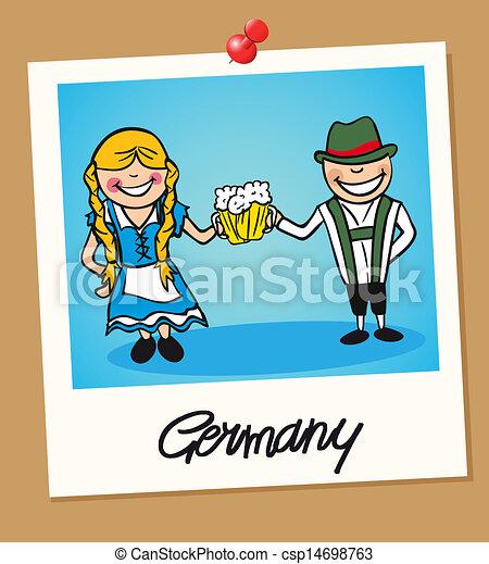 Germany Travel Polaroid People