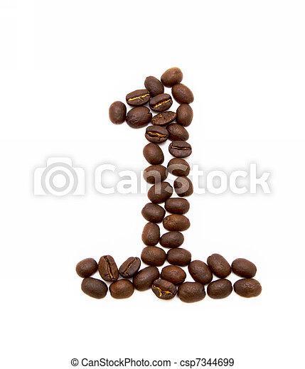 geroosterd, koffie, gemaakt, bonen, een - csp7344699