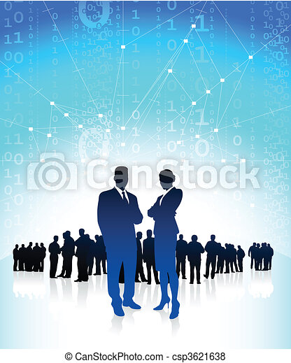 Geschäftsmanager mit globalem Finanzteam - csp3621638