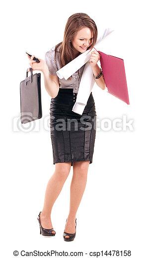 Junge Geschäftsfrau - csp14478158