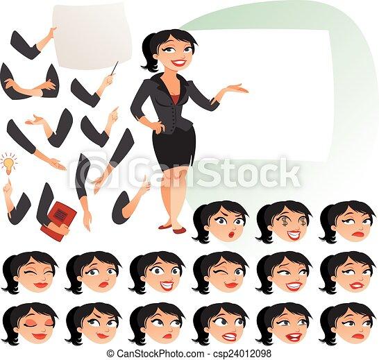 Geschäftsfrau - csp24012098
