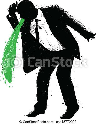 Grün Erbrechen
