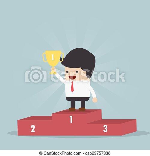 Der Gewinner des Geschäftsmanns - csp23757338
