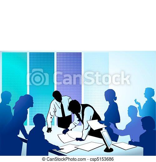 Geschäftsleute arbeiten zusammen - csp5153686