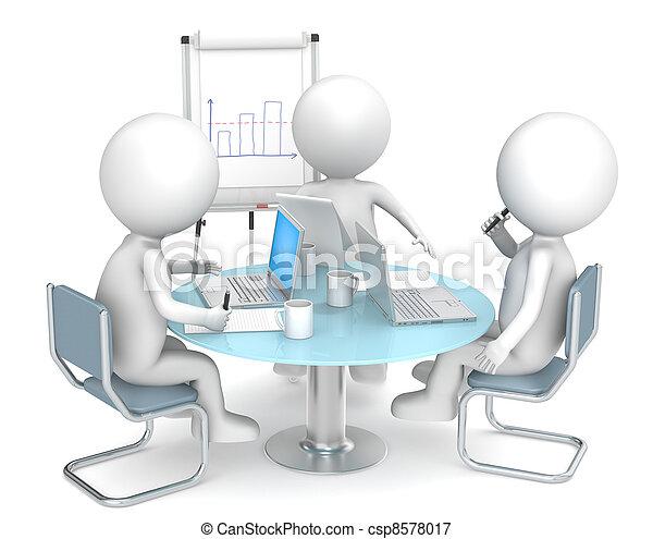 geschaeftswelt, meeting. - csp8578017