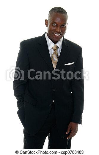 Geschäftsmann im schwarzen Anzug 3 - csp0788483