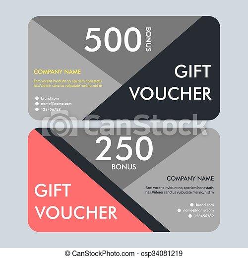 Geschenk, modern, pattern., vektor, design, gutschein, schablone ...