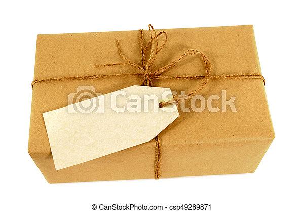 Geschenk Paket Etikett Etikett Post Oder Bild Suche Foto