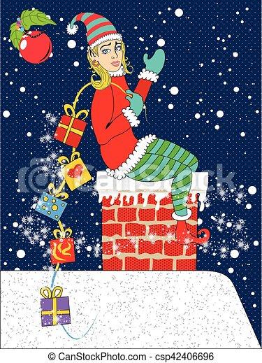 geschenke, pinup, weihnachtshelfer, weihnachten