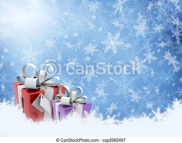 geschenke, weihnachten - csp2682497
