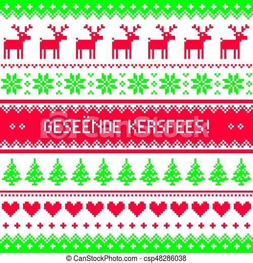 Geseende kersfees merry christmas in afrikaans greetings card geseende kersfees merry christmas in afrikaans greetings card seamless pattern csp48286038 m4hsunfo
