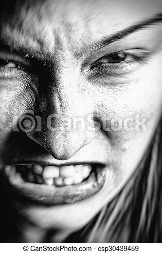 böse Gesichtszeichnung