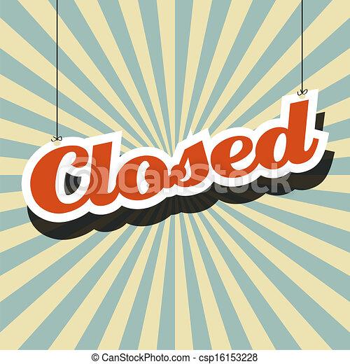 gesloten voorteken - csp16153228
