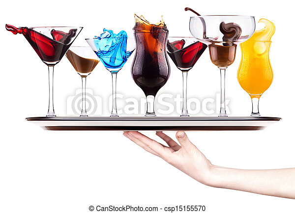 gespetter, set, cocktail, alcoholhoudend - csp15155570