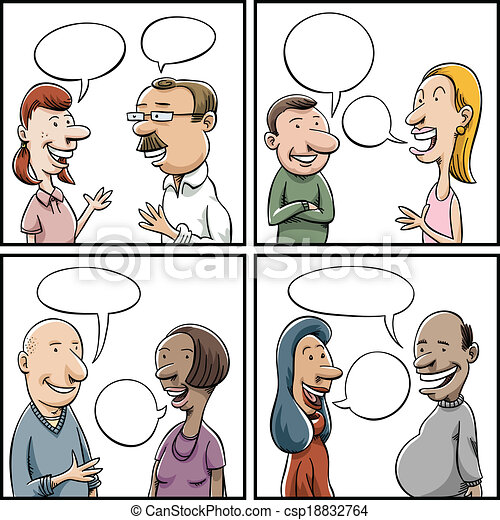 gesprek, panelen - csp18832764