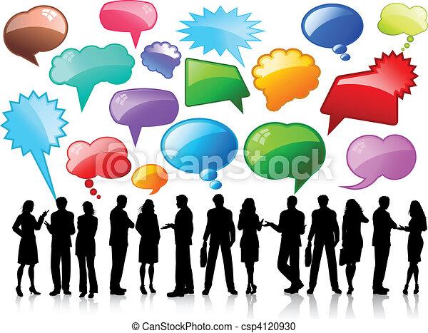 gesprekken, zakelijk - csp4120930