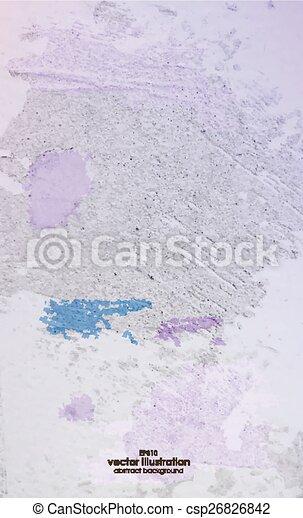 gesso, antigas, colorido, textura - csp26826842
