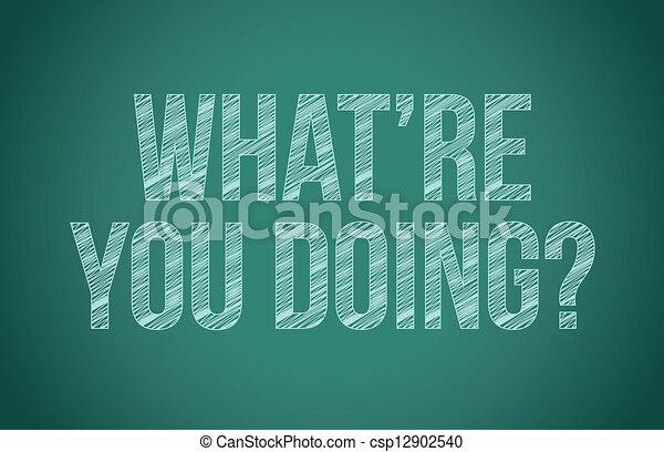 gesso, cosa, lei, doing?, scrittura - csp12902540