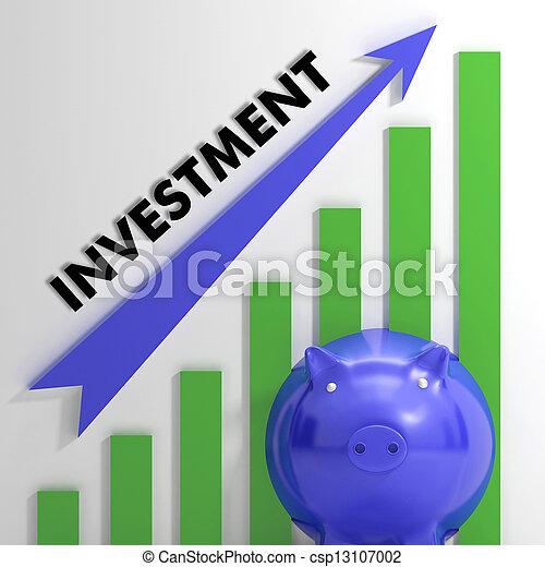 gestegen, winst, het tonen, tabel, investering, verheffing - csp13107002