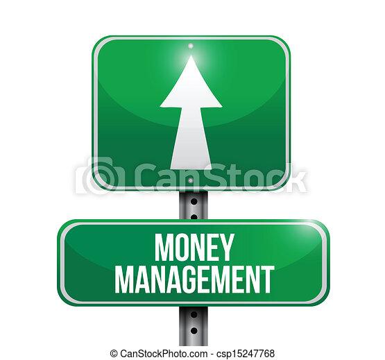 gestion argent, route, illustration, signe - csp15247768