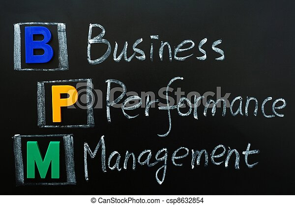 gestion, business, acronyme, bpm, -, performance - csp8632854