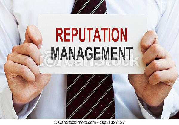 gestion, carte, réputation - csp31327127