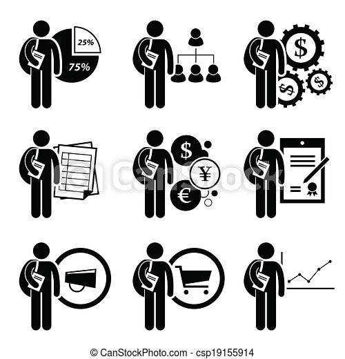 gestion, degré, business - csp19155914