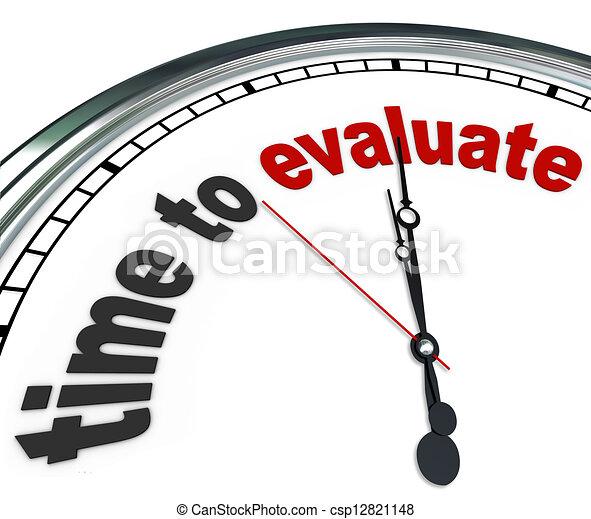 gestion, horloge, évaluer, revue, temps, évaluation, ou - csp12821148