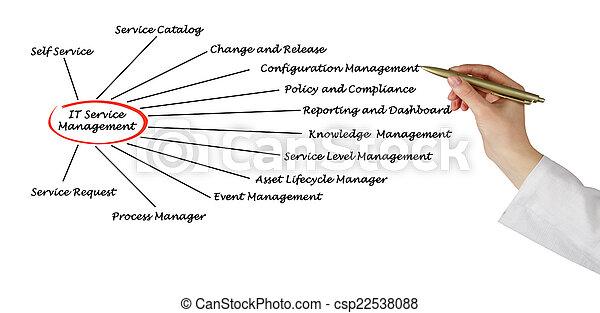 gestion, il, service - csp22538088