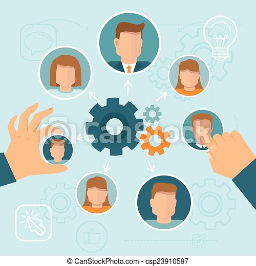 gestion, ressource, humain - csp23910597