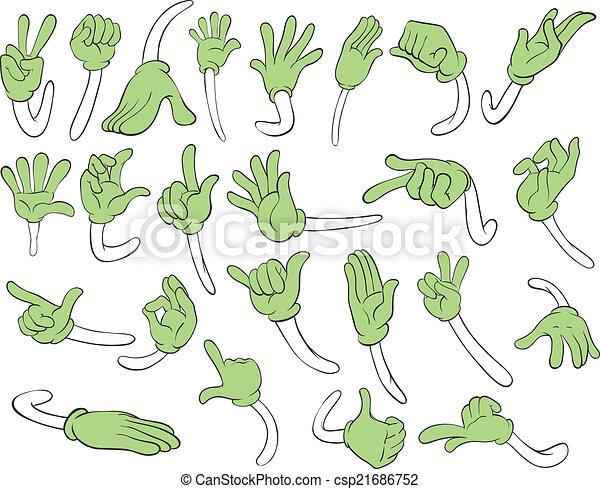 gestos, mano - csp21686752