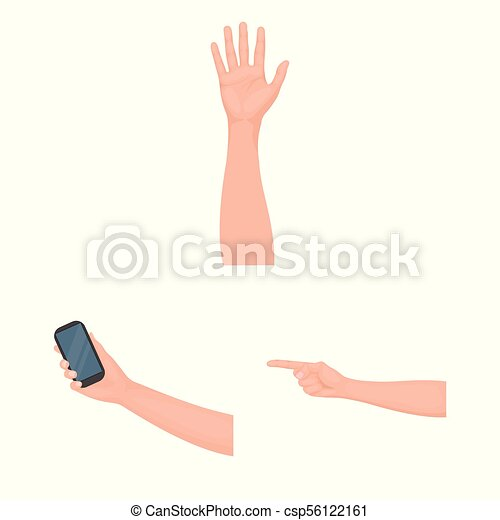 Gestures and their meaning cartoon icons in set collection for design. Emotional part of communication vector symbol stock web illustration. - csp56122161
