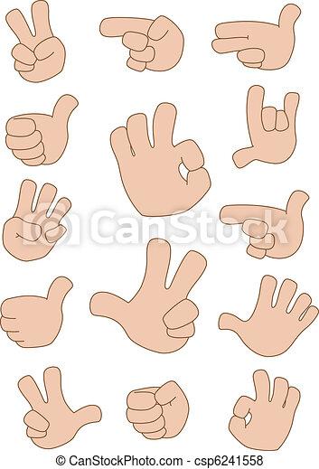 gestures collection - csp6241558