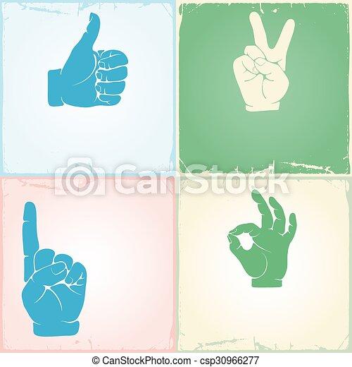 Gestures set - csp30966277