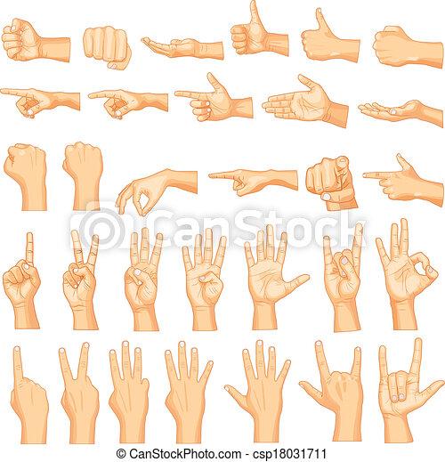 gestuser, hånd - csp18031711