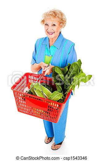 gesunde, älter, dame, käufer - csp1543346