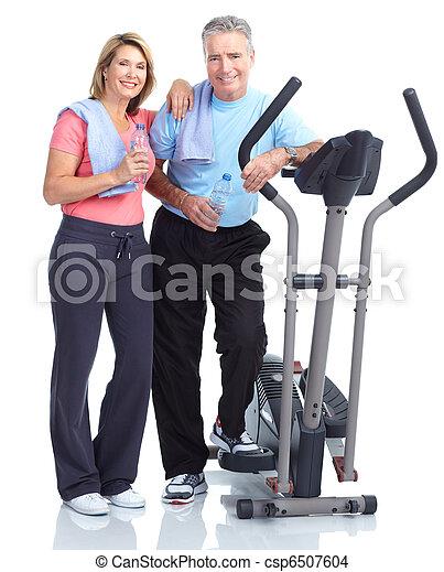 gesunde, fitness, turnhalle, lebensstil - csp6507604