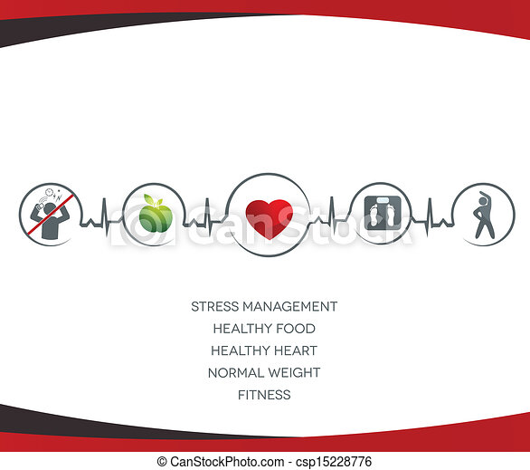 gesunde, symbole, lebensstil - csp15228776