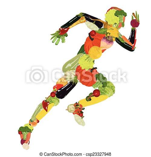 gesunder lebensstil - csp23327948