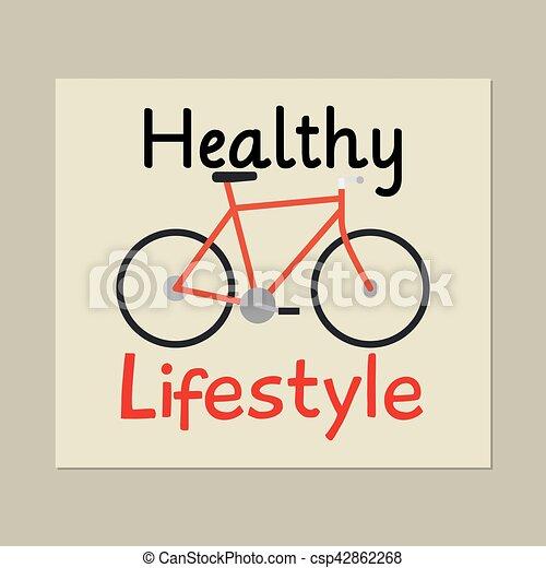 Fahrrad Karte.Gesunder Lebensstil Fahrrad Karte