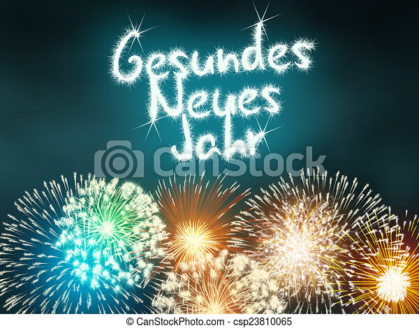 gesundes neues jahr german happy new year csp23810065