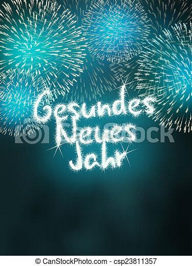 Delightful Gesundes Neues Jahr German Happy New Year   Csp23811357