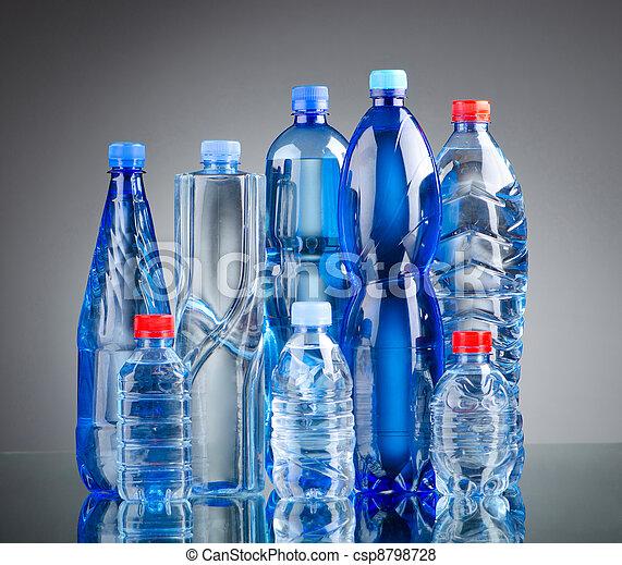 Gesundes wasser, begriff, flaschen, getränk.