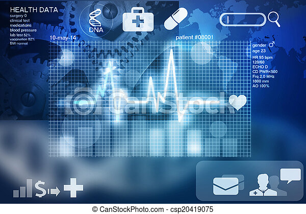 gesundheit, daten - csp20419075