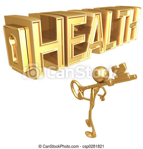 gesundheit, schlüssel - csp0281821