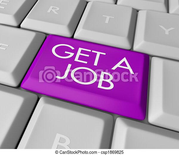Get a Job Computer Key - csp1869825
