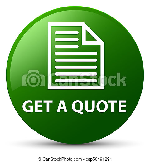 Get a quote (page icon) green round button - csp50491291