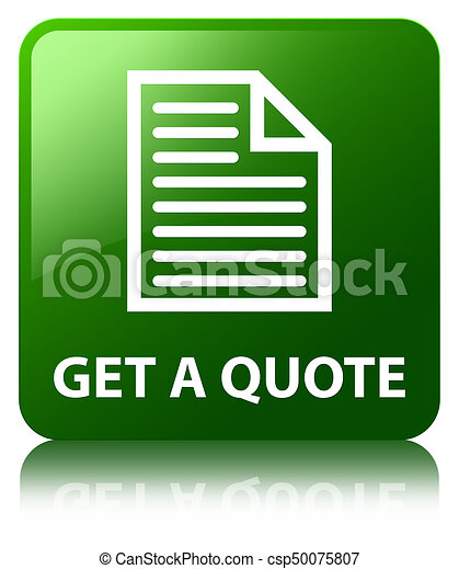 Get a quote (page icon) green square button - csp50075807