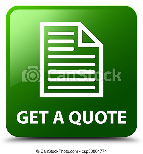 Get a quote (page icon) green square button - csp50804774