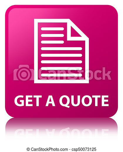 Get a quote (page icon) pink square button - csp50073125